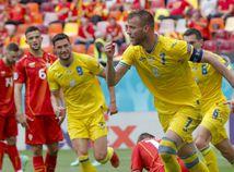 Rumunsko futbal ME2020 C Ukrajina Severné Macedónsko