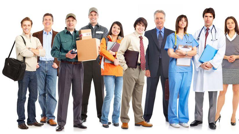 zamestnania, práca, profesie, úsmev, ľudia,...