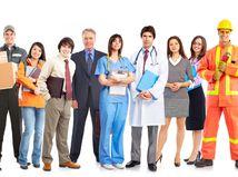 zamestnania, práca, profesie, úsmev, ľudia, skupina