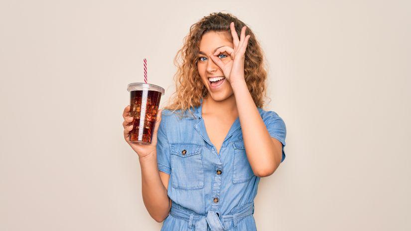 žena, retro, Coca-Cola