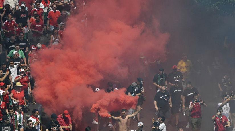 Maďarsko šport futbal ME2020 F Francúzsko