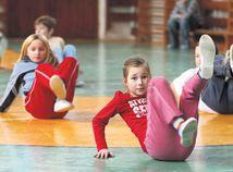 telocvik, cvičenie, deti