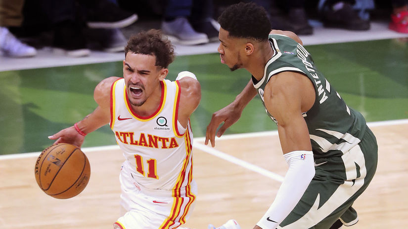 USA NBA šport Hawks Bucks Basketbal play off