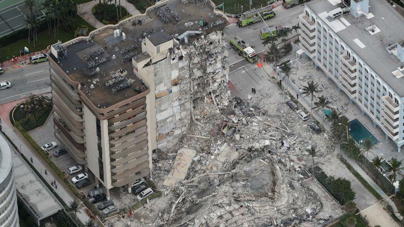 budova, zrútenie