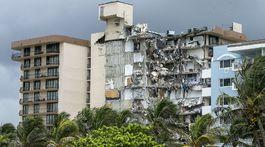 Zrútený obytný dom na Floride blízko Miami