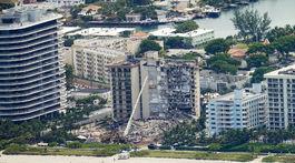 Zrútený obytný dom na Floride blízko Miami.
