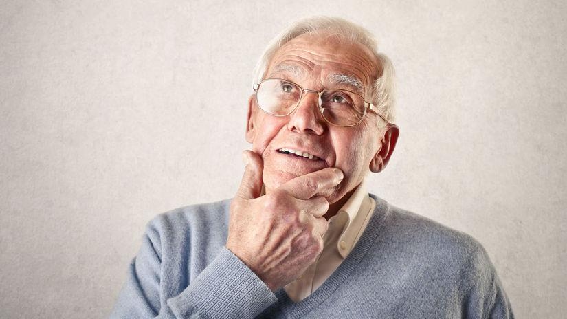 muž, dedko, penzista, rozmýšľanie, snívanie,...