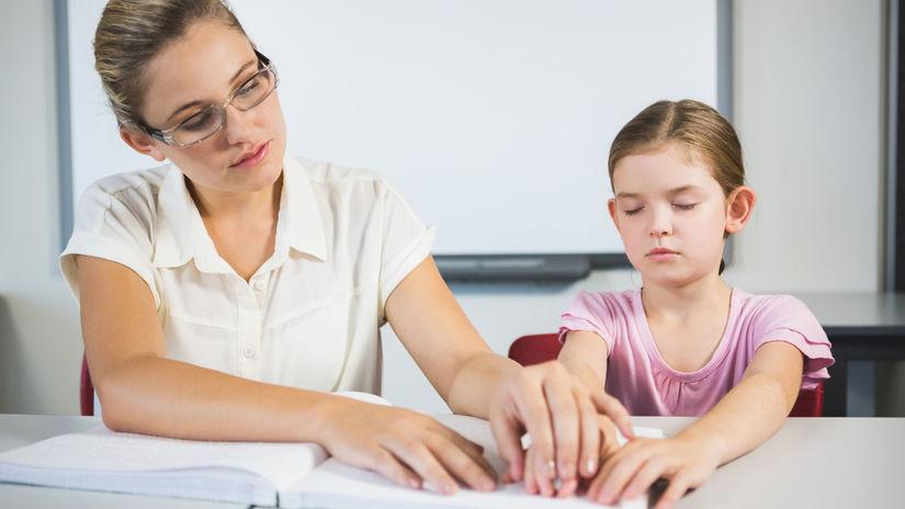 dieťa, nevidiaci, ŤZP, Braillovo písmo, čítanie