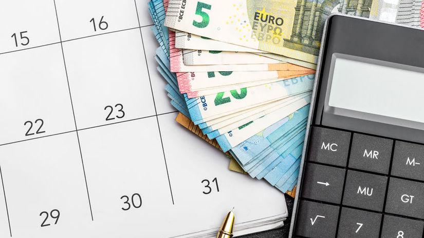 kalendár, kalkulačka, peniaze, podnikanie, SZČO
