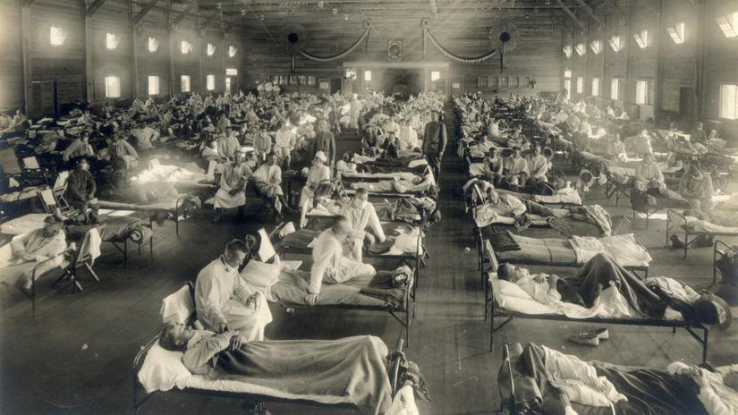 nemocnica, španielska chrípka