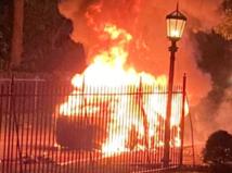Tesla S Plaid, požiar
