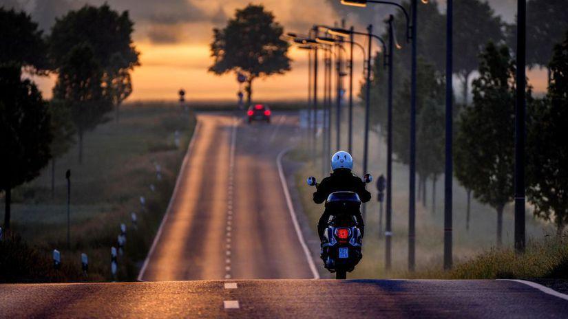 cesta, doprava, motorka,