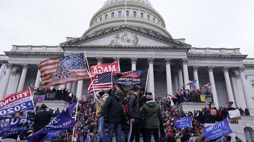 Kapitol, USA, demonštrácia, Donald Trump