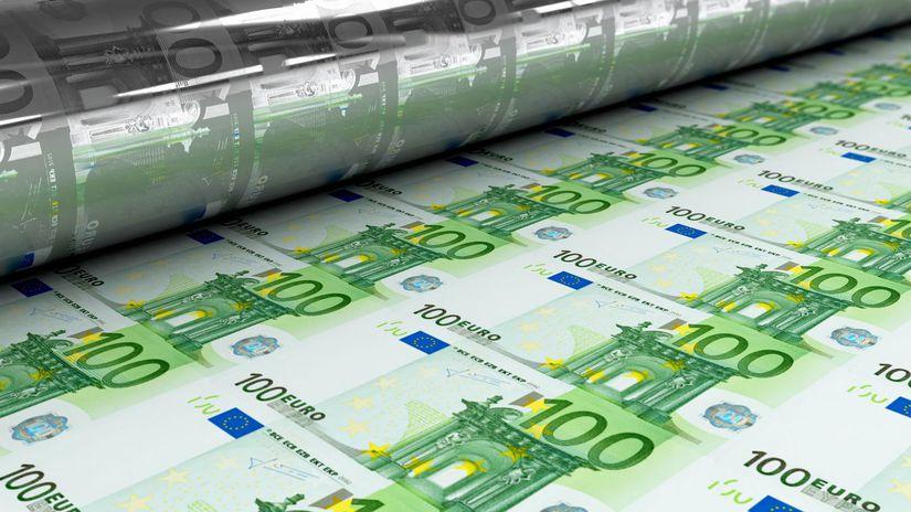 100 eur, bankovky, peniaze, tlačenie peňazí