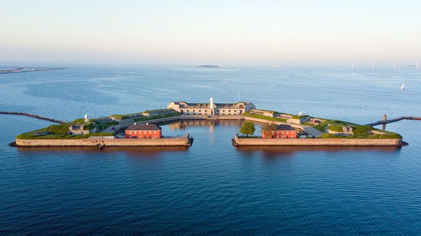 Trekroner, pevnosť, umelý ostrov, Kodaň,...