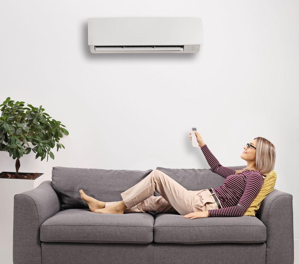 klimatizácia, diaľkové ovládanie, obývačka
