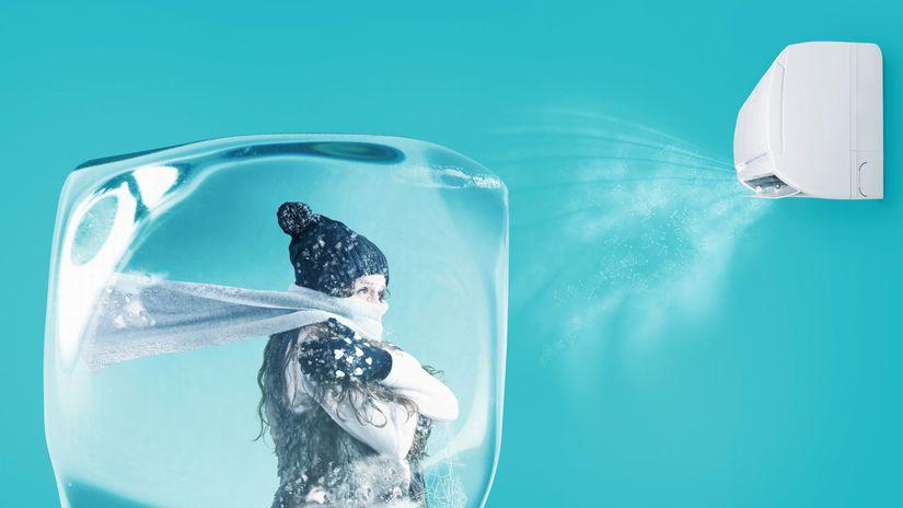 klimatizácia, ochladenie, zima, ľad