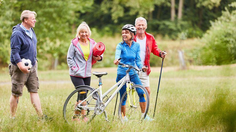 seniori, park, športy, pohyb, aktivita,...