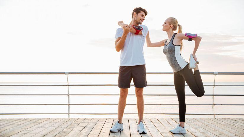 šport, pohyb, aktivita, rozcvička, strečing