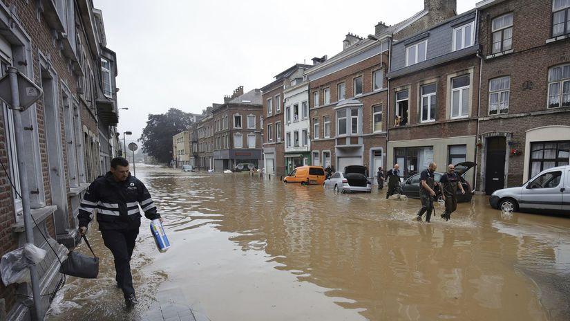 belgicko voda záplavy povodeň