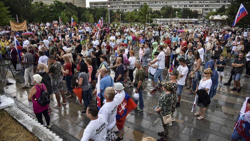 protest, bratislava