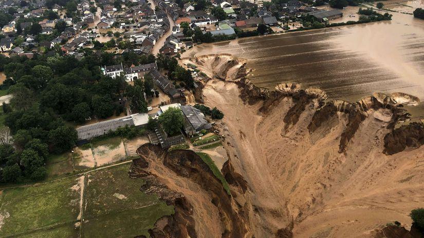 záplavy, nemecko