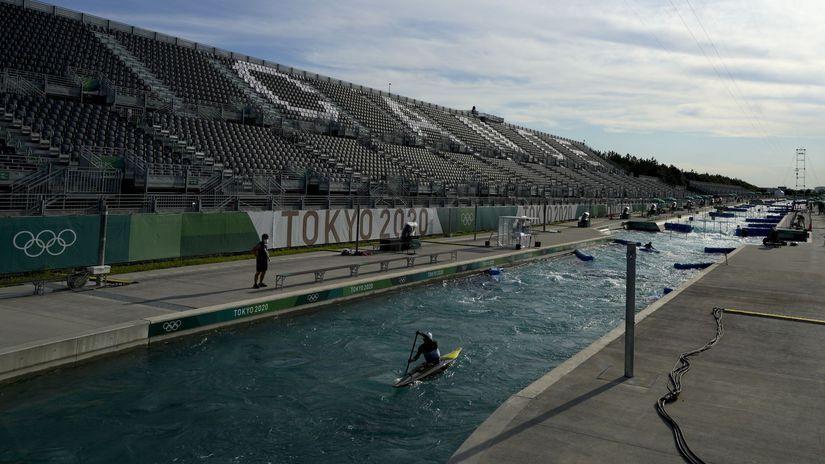 Japonsko OH2020 vodný slalom tréning