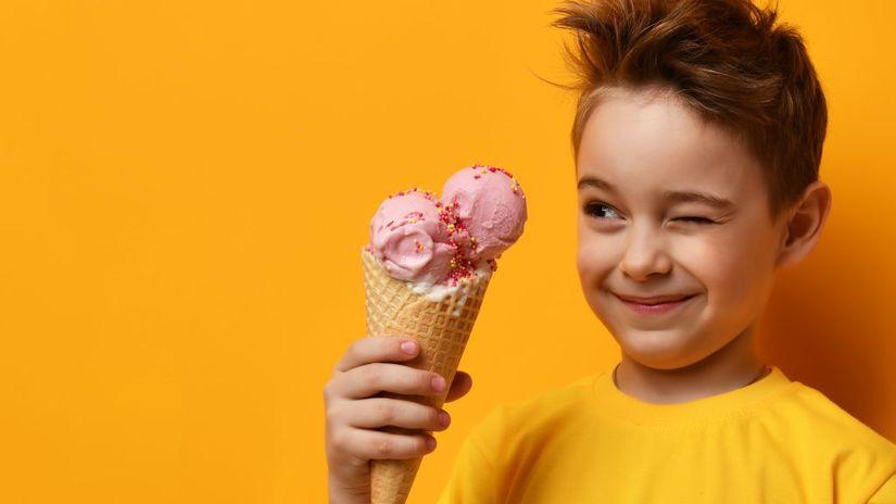 zmrzlina, sladkosti, chlapec, dieťa