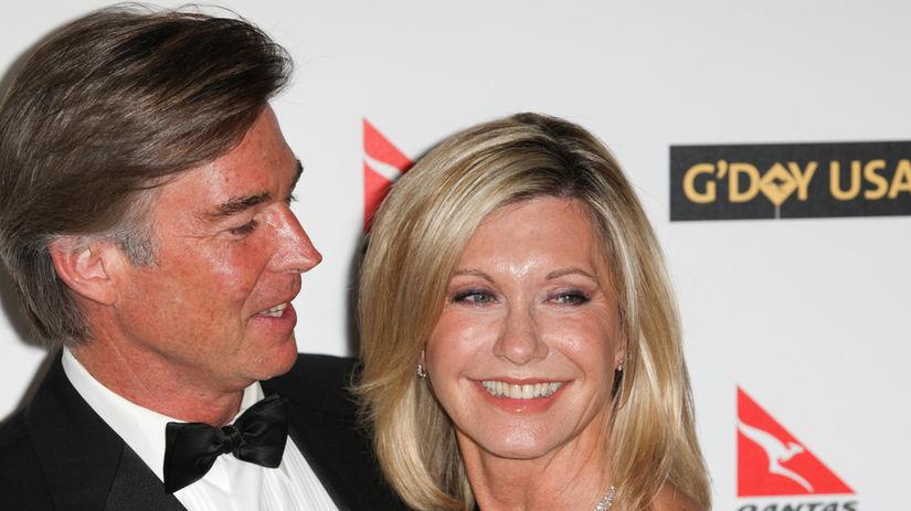 Olivia Newton-John a jej manžel, John Easterling.