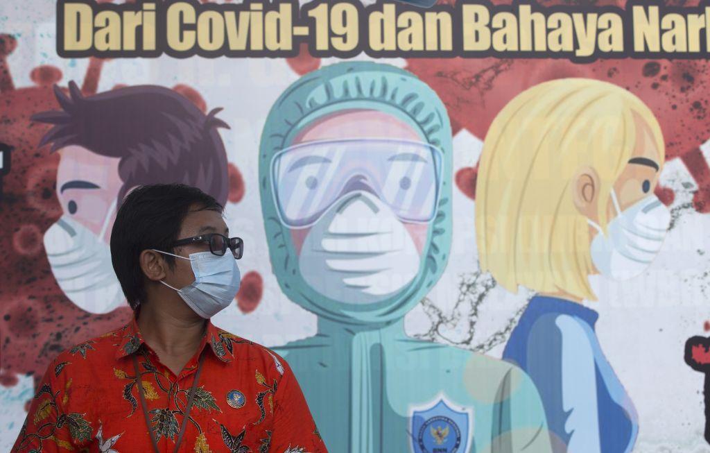 Indonézia, rúška, opatrenia, Covid, koronavírus