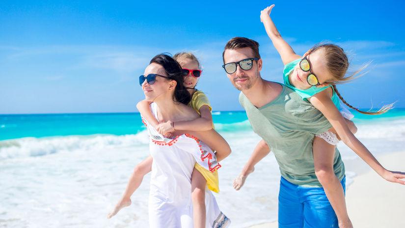 leto, more, pláž, rodina, dovolenka