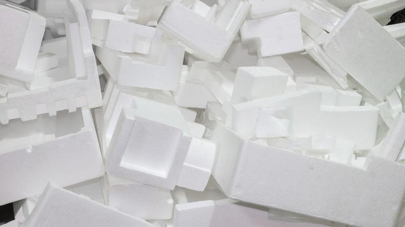 polystyrén, odpad, plast