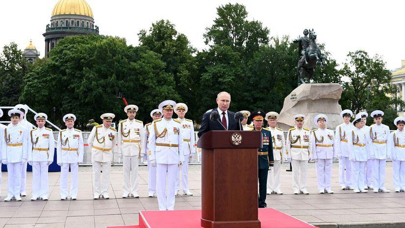 Rusko námorníctvo prehliadka Putin