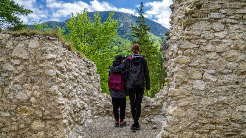 hrad, túra, turistika, Blatnica, cestovanie