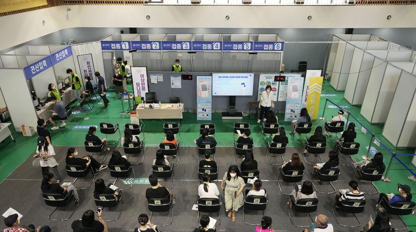 Očkovanie v juhokórejskom Soule