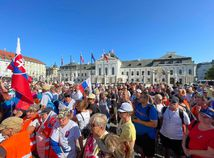protest proti zvýhodňovaniu očkovaných, Prezidentský palác