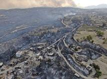 Turecko Antalya požiar lesný