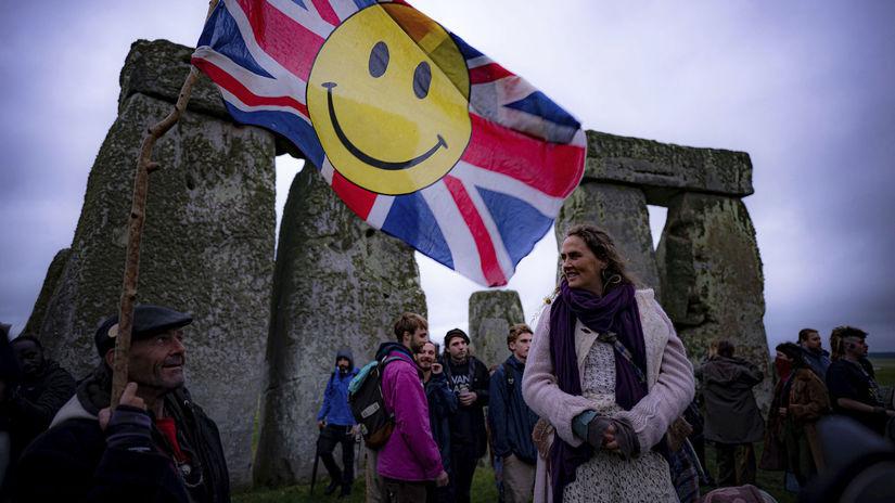 Británia Stonehenge slnovrat letný slávnosť