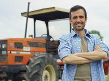 traktor, farmár, pole, práca, úsmev