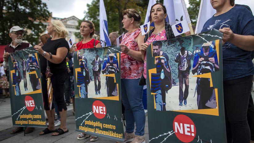 Vilnius / Litva / Protest / Imigrácia /