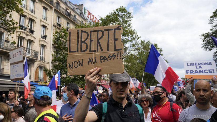 Francúzsko / Protest / Covid pas /