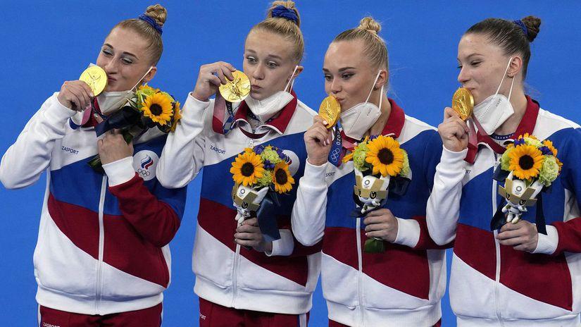 Japonsko OH2020 gymnastika športová ženy...