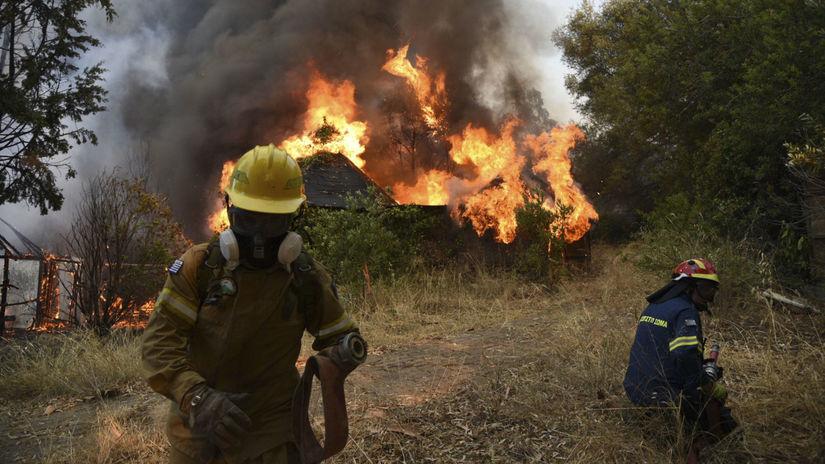 grécko požiar