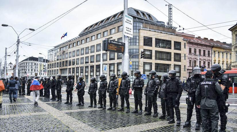 Bratislava, koronavírus, protest