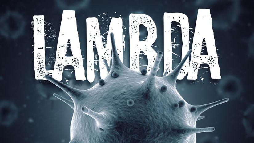 Coronavirus lambda mutation 3d render concept:...
