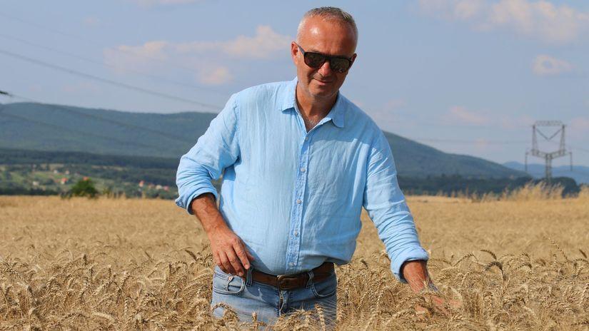 Ján Jelen, farmár, pšenica