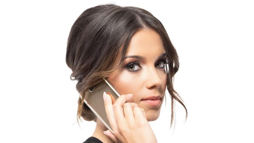 žena, práca, telefonovanie