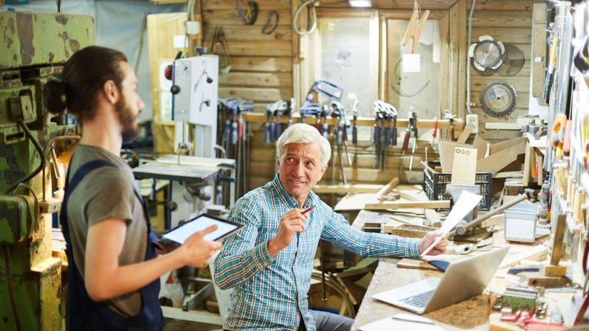 senior, radosť, pracujúci penzisti, dielňa,...