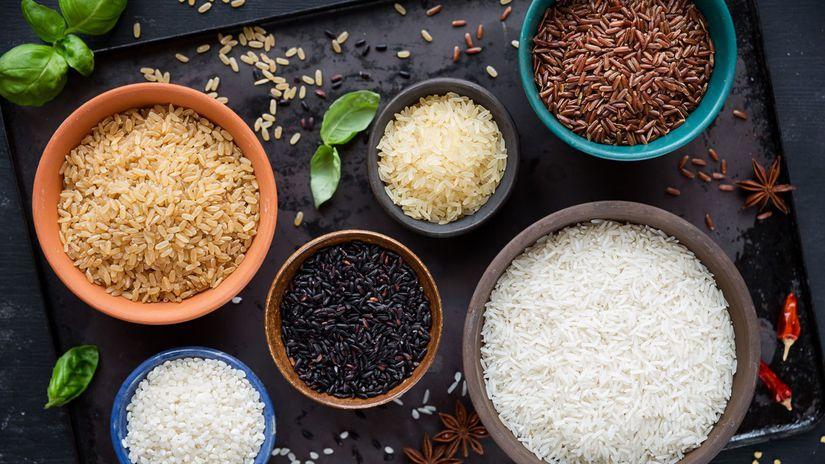 ryža, dlhozrnná ryža, basmati ryža, jazmínová...
