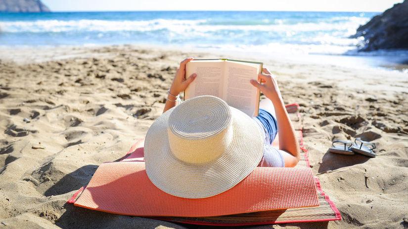 kniha, žena, čítanie, dovolenka, oddych, pláž,...